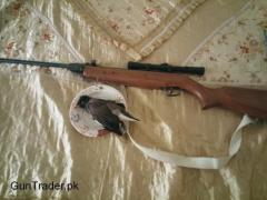Pakistan made air rifle with scope high power for sale urgent need of money