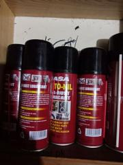 Rust removing spray oil